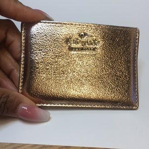 Late Spade Card Holder Rose Gold